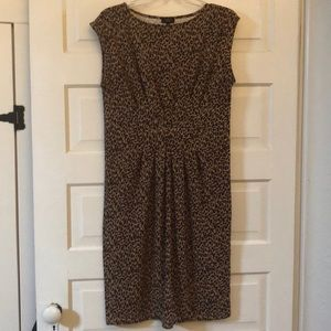 Talbots animal print dress